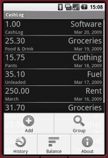 Отображает список ваших расходов